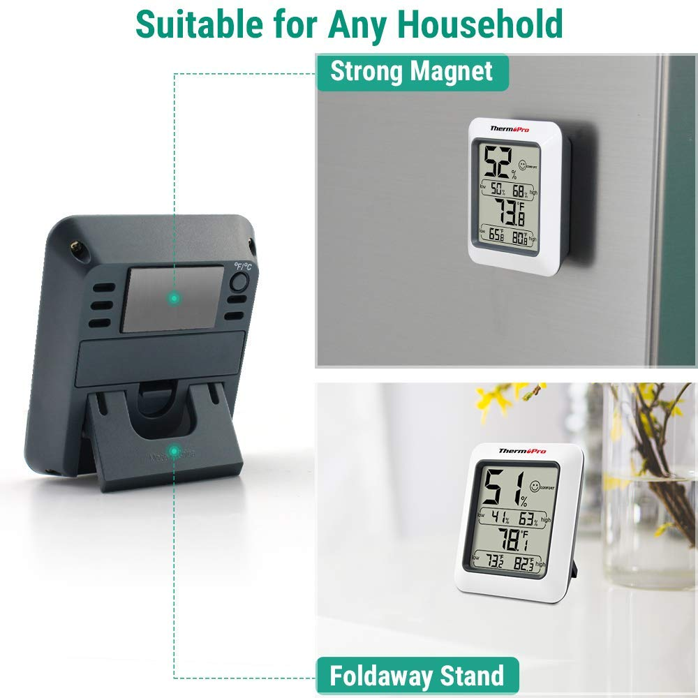 TP50 Room Thermometer Digital Indoor Hygrometer Monitor Temperature
